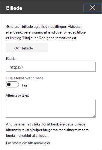 Billede af webdel værktøjskasse
