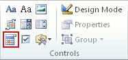 Kontrolelement for indhold af datovælger