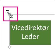 Træk i størrelseshåndtaget i hjørnet for at ændre størrelse diagrammet