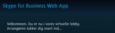 Virtual lobby i Skype for Business Web App