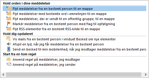 Guiden Regler i Outlook