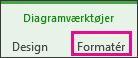 Fanen formatér under Diagramværktøjer