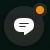 Knappen Chat med en indikator, der viser, at en ny chatsamtale er tilgængelig