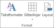 Ændringer af tekstformateringen