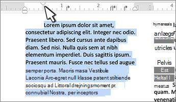 Første linje mærke i Mac