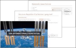 PowerPoint Quickstarter opretter en disposition til en præsentation, der er baseret på det valgte emne.