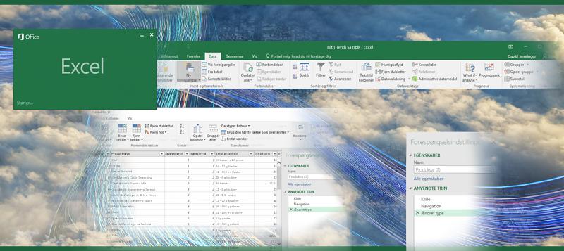 Forespørgsel i Excel 2016