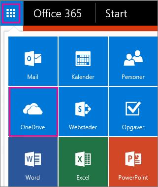 Sådan åbner du OneDrive for Business