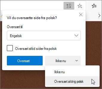 Vælg aldrig Oversæt
