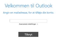 Tilføj en ny mailkonto