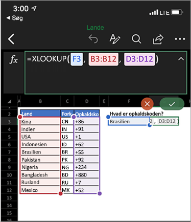 Viser funktionen XLookup