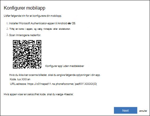 Konfigurer din arbejds- eller skolekonto i Microsoft Authenticator appen