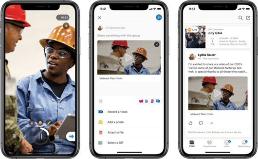 Oprette korte videoer til Yammer på iOS mobile-platformen