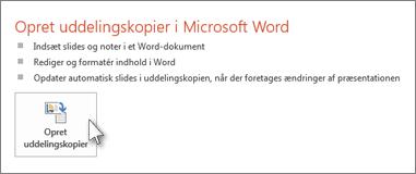 Opret uddelingskopier i Microsoft Word