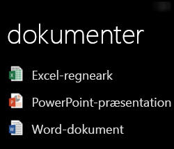 Desktopdokumenter vises på Windows Phone, når Office Remote kører