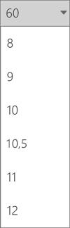 Skriftstørrelse