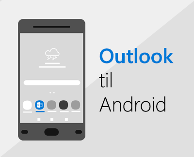 Klik for at konfigurere Outlook til Android