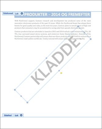 Billede af dokument med Kladde-vandmærke.