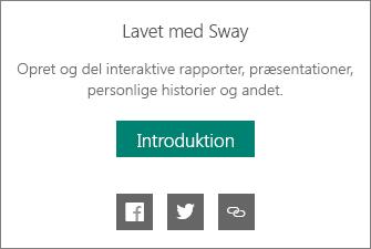 Produceret af Sway-branding