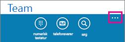 Tryk på de tre prikker nederst på skærmen for at få vist menuen Flere indstillinger