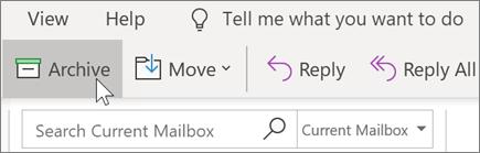 Arkivering af en mail