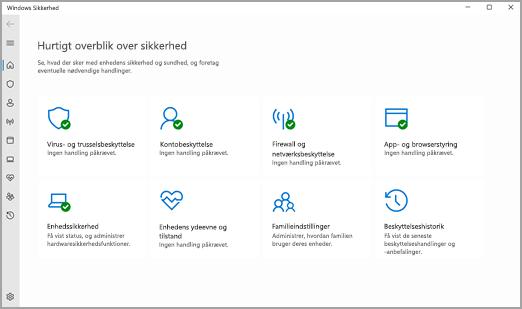 Appen Windows Sikkerhed i Windows 11