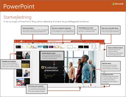 Startvejledning til PowerPoint 2016 (Windows)