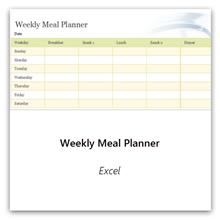 Vælg dette for at få skabelonen til ugentlig planlægning af måltider.
