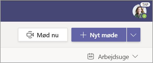 Markér + Nyt møde.