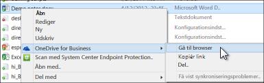 Få vist en fil i en synkroniseret mappe i en webbrowser