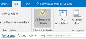 Outlook-funktionen Fokuseret indbakke