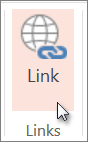 Klik på Link på fanen Indsæt.