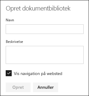Oplysninger om dokumentbibliotek
