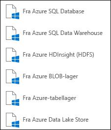 Hente data fra Microsoft Azure
