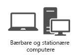 Bærbare og stationære computere
