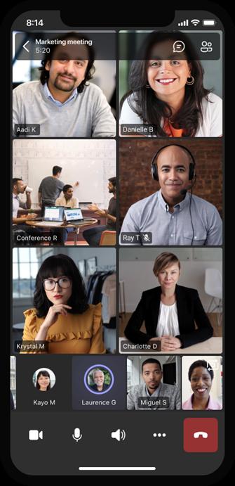 Otte forskellige videostreams på én skærm