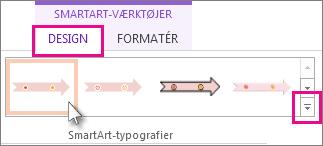 Vælg en ny typografi