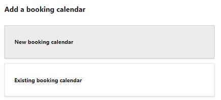 Tilføje en booking kalender