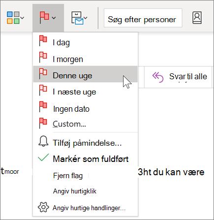 Afmærke en meddelelse til opfølgning i Outlook