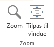 Gruppen Zoom under fanen Vis