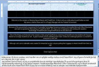 Slidemaster med tekst i pladsholderne til billedtekst