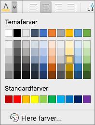 Vælge en skriftfarve