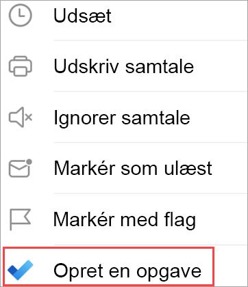 Vis indstillinger for mail