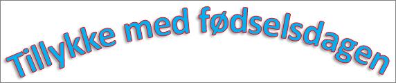 WordArt med buet overgangseffekt og en anvendt skygge