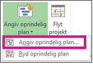 Angiv en oprindelig plan for projektet
