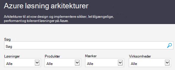 Webstedet Azure Architecture Solutions