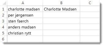 Liste over navne skrevet med små bogstaver