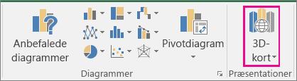 Indstillingen 3D-kort i Excel