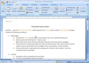 Vise eller skjule formateringsmærker