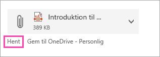 Et skærmbillede af knappen Download